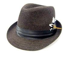 フェザー付き中折れ帽